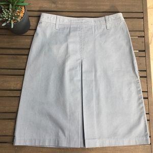 J. Crew Grey Cotton Midi Skirt - Size 2